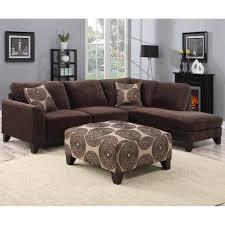 porter malibu chocolate brown sectional sofa with ottoman
