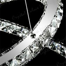 ring led modern crystal chandelier ceiling pendant lighting crystal pendant chandelier