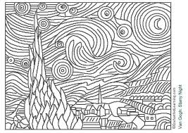 Small Picture Awesome Van Gogh Coloring Pages Images New Printable Coloring