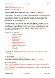 How To Write A Cv Vitae For High School Students