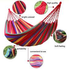 luckyhome portable cotton rope outdoor hammock duyan 2 colors