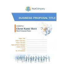 Business Proposal Cover Page 30 Business Proposal Templates Proposal Letter Samples