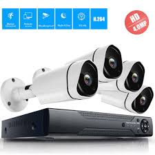 4MP 4CH Security CCTV System <b>4.0MP AHD Dome</b> Outdoor Indoor ...