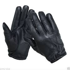 tactical police kevlar liner cut resistant patrol duty search gloves
