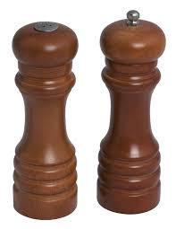 wooden salt shaker  pepper mill ½ singapore  pantry pursuits