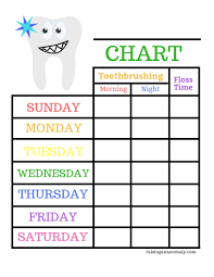 Free Printable Tooth Brushing Chart 3 Top Tips To Establish Childrens Good Oral Hygiene Habits