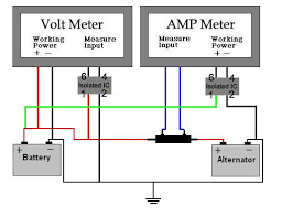 ammeter shunt wiring diagram wiring diagram and hernes 5 wire panel meter 0 50v 300a w shunt drok