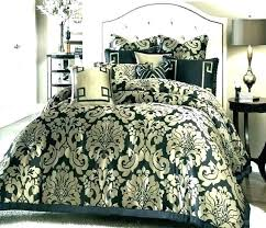 black and white damask bedding queen outstanding small size of set sets b
