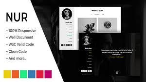 Nur Personal Resume Cv Portfolio Html Template Themeforest