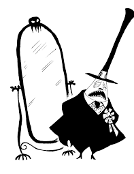 The Nightmare Before Christmas Mayor Coloring Page Disney Lol