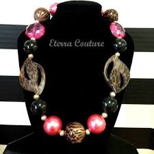 Hot Pink Leopard / Cheetah Baby Necklace Photo Prop | Chunky bead  necklaces, Girl kid accessories, Beaded necklace