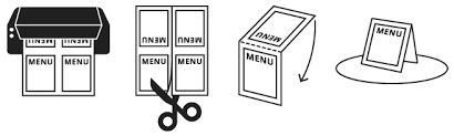 How To Create Table Tents In Word Menu Templates Imenupro