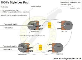 six string supplies s les paul wiring 50 s les paul wiring