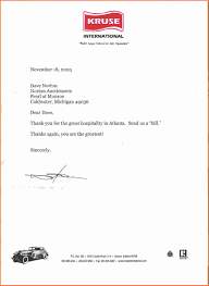 Collection Of Solutions Thank You Note For Hospitalitymple