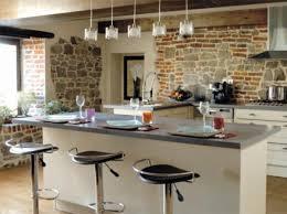 Cuisine Américaine Moderne Avec Bar Elegant Modele De Cuisine En L