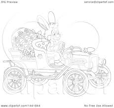 1080x1024 clipart of a cartoon black and white lineart easter bunny rabbit
