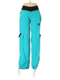 Details About Zumba Wear Women Blue Cargo Pants S