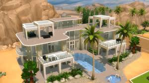 Small Picture The Sims 4 House Building Modern Mansion with GLASS FLOOR