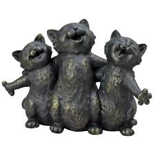 singing kittens statue singing cats garden sculpture