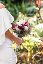 wildflower bouquet at florida tech botanical gardens wedding