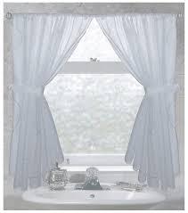 bathroom curtain. carnation home fashions ava fabric window curtain bathroom
