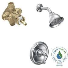 kingsley single handle 1 spray positemp eco performance shower faucet trim kit with
