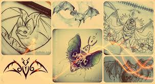 эскизы тату летучая мышь варианты рисунков значение и фото