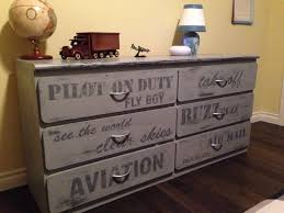 Aviation themed painted grey dresser - If only I was this talented ...