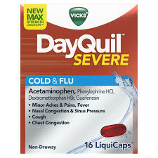 Tylenol Cold And Flu Severe Dosage Chart Dayquil Severe Cough Cold Flu Daytime Relief Liquicaps