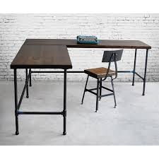 industrial style office desk modern industrial desk. Industrial Style L-shaped Wood Desk For Your Office Or Living Space Made With Old Modern E