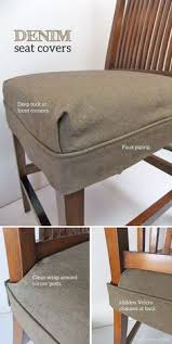 tailored denim seat covers dining room