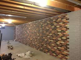 surprising design painting concrete basement walls the seams on a stamped concrete wall disappear when the bricks