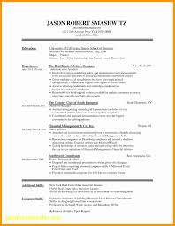 Finance Resume Template Word Unique Cover Letter And Resume Template