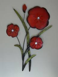 wall art metal wall art picture red poppy flower trio bunch by brilliant wall on red poppy metal wall art with amazon wall art metal wall art picture red poppy flower