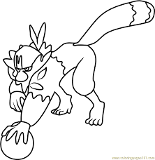 Small Picture Passimian Pokemon Sun and Moon Coloring Page Free Pokmon Sun