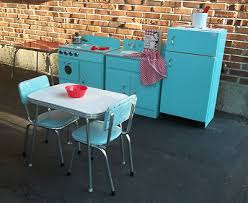 vintage handmade wood child s play kitchen 3 pieces stove