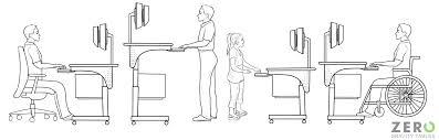 Wheelchair Desk Height What Is Standard Desk Chair Height