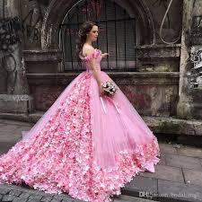 pink wedding gowns. Saudi Arabia Princess Pink Wedding Dress 2017 Hand Made Flowers
