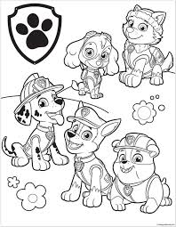 Printable Paw Patrol Coloring Pages Coloring For Kids 2019