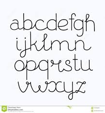 Alphabet Hand Print Letters Numbers Symbols Written With