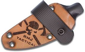 rmj tactical hybrid leather kydex sheath for the sparrow fixed blade sheath only