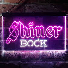 Shiner Neon Light Zusme Shiner Bock Beer Novelty Led Neon Sign White Red W12 X H8