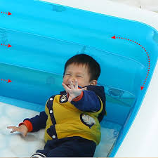 l 130x w 90x h 50cm inflatable 3 rings swimming pool family children kids kid baby home toy game bath basin showering playing 3 layer extra large high