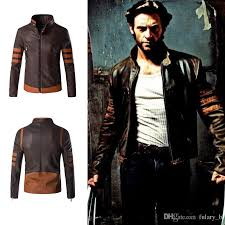 wolverine jacket zip slim fit faux pu leather biker jacket male winter brown vintage motorcycle leather jackets men plus size 4xl white jacket jacket for
