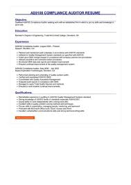As9100 Compliance Auditor Resume Great Sample Resume