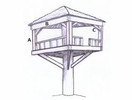 This is another easy design for a tree house. It has a simple visual which  isn't great with detail but it is enough to help you see what the end  product ...