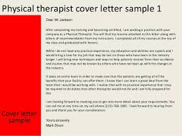 Physical Therapy Cover Letter Classy Idea Physical Therapy Cover