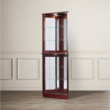 curved glass curio cabinet full size of large size of medium size of