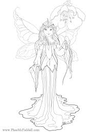 Small Picture Flower Fairy Coloring Page