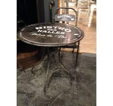 Table de bistro vintage ronde